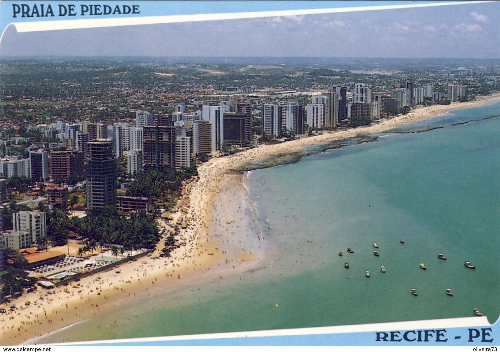 RECIFE - PERNAMBUCO: Vista Aérea Da Praia De Piedade - BRASIL - Recife