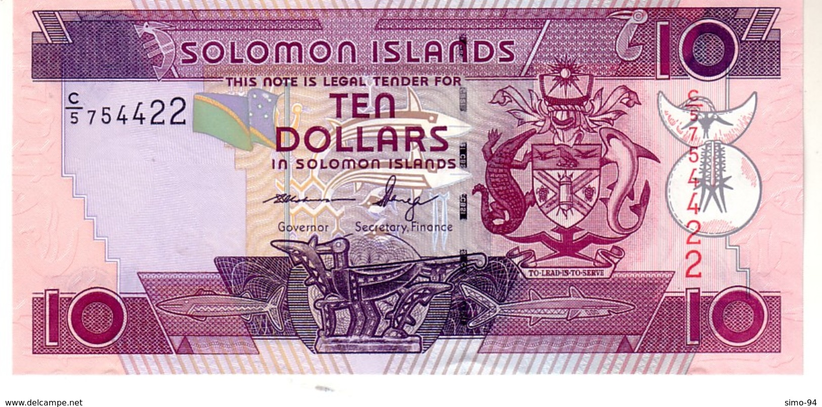 Solomon Islands P.27 10 Dollars 2011 Unc - Salomons