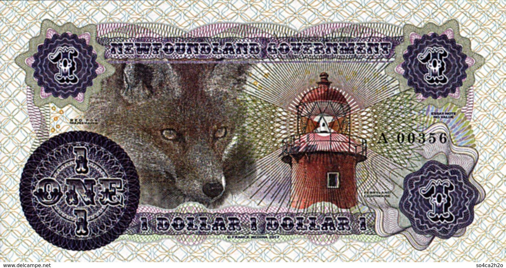 Canada Newfoundland Government 1 Dollar 2017  Shanawdithit 1801 - 6 Juin 1829 Specimen-essai UNC - Canada