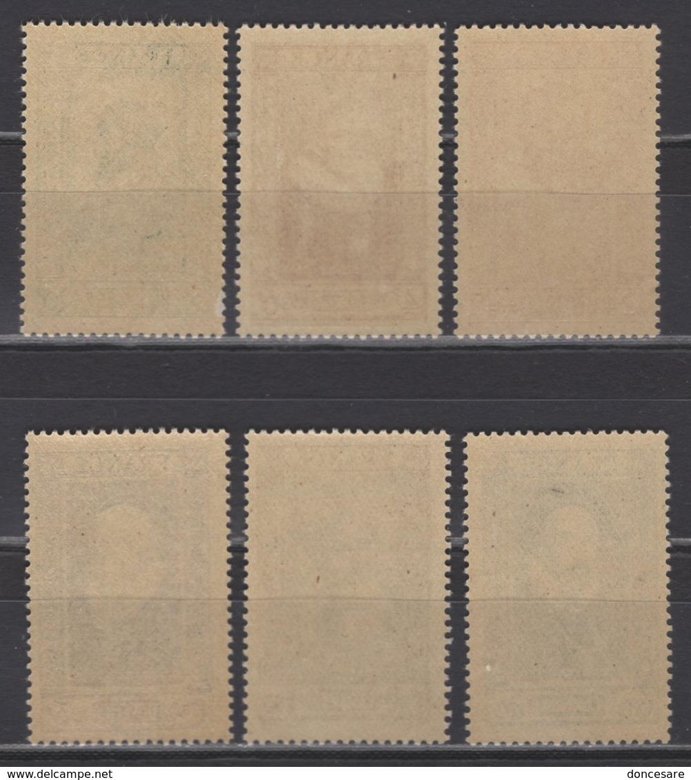 FRANCE 1943 - SERIE Y.T. N° 587 A 592 - NEUFS** - Unused Stamps