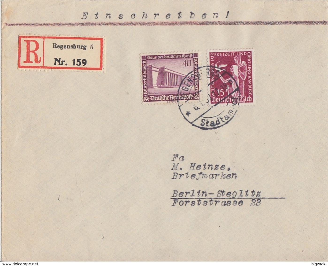 DR R-Brief Mif Minr.623,642 Regensburg Vignette Ansehen !!!!!!!!!!!!!! - Briefe U. Dokumente