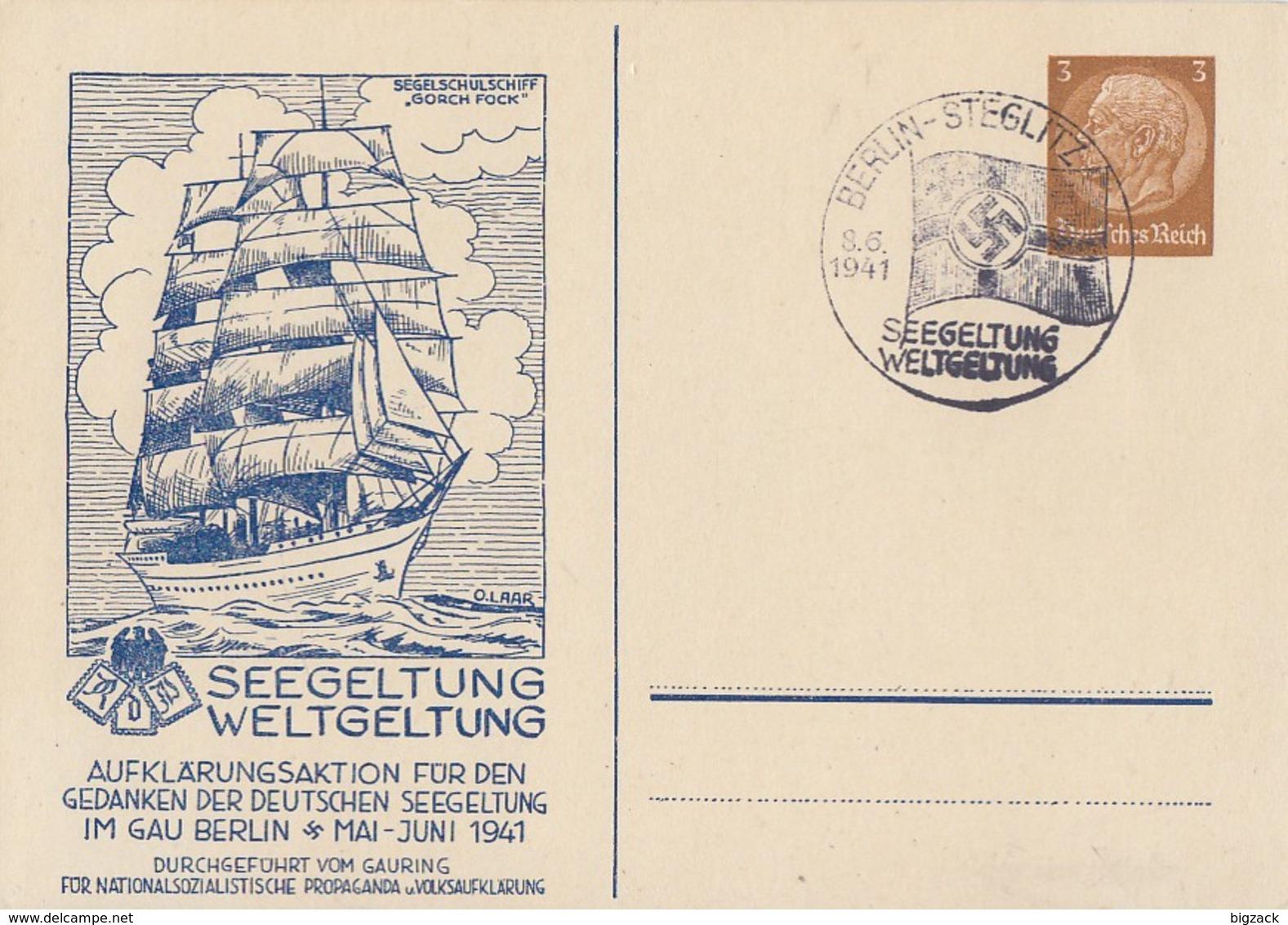 DR Privat-GS Minr.PP122 C119 SST Berlin 8.6.41 - Briefe U. Dokumente