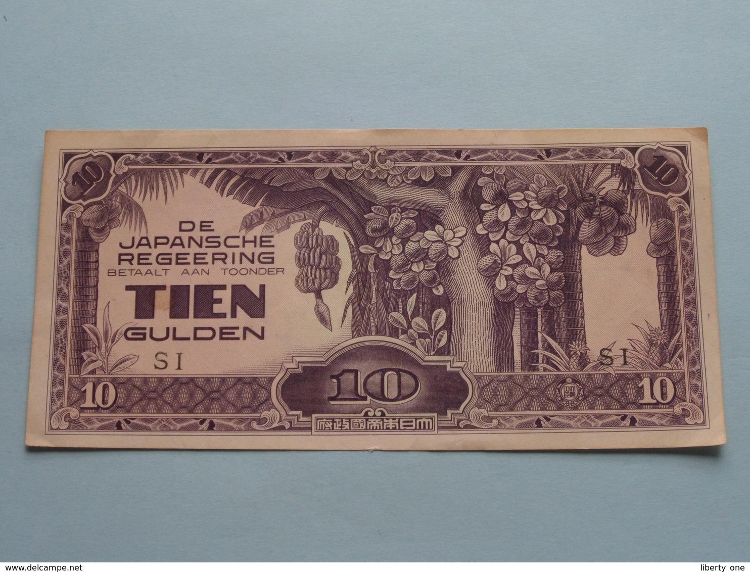 De JAPANSCHE REGEERING ( 1942 ) Betaalt Aan Toonder TIEN GULDEN ( SI ) XF > ( For Grade, Please See Photo ) ! - Indonésie