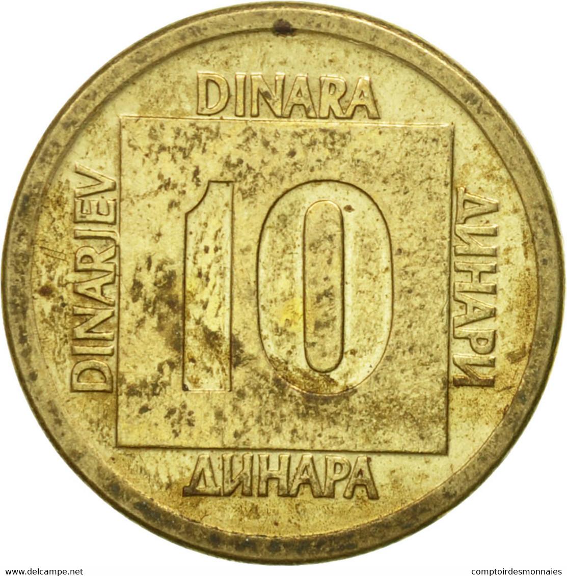 Monnaie, Yougoslavie, 10 Dinara, 1988, TTB, Laiton, KM:131 - Joegoslavië