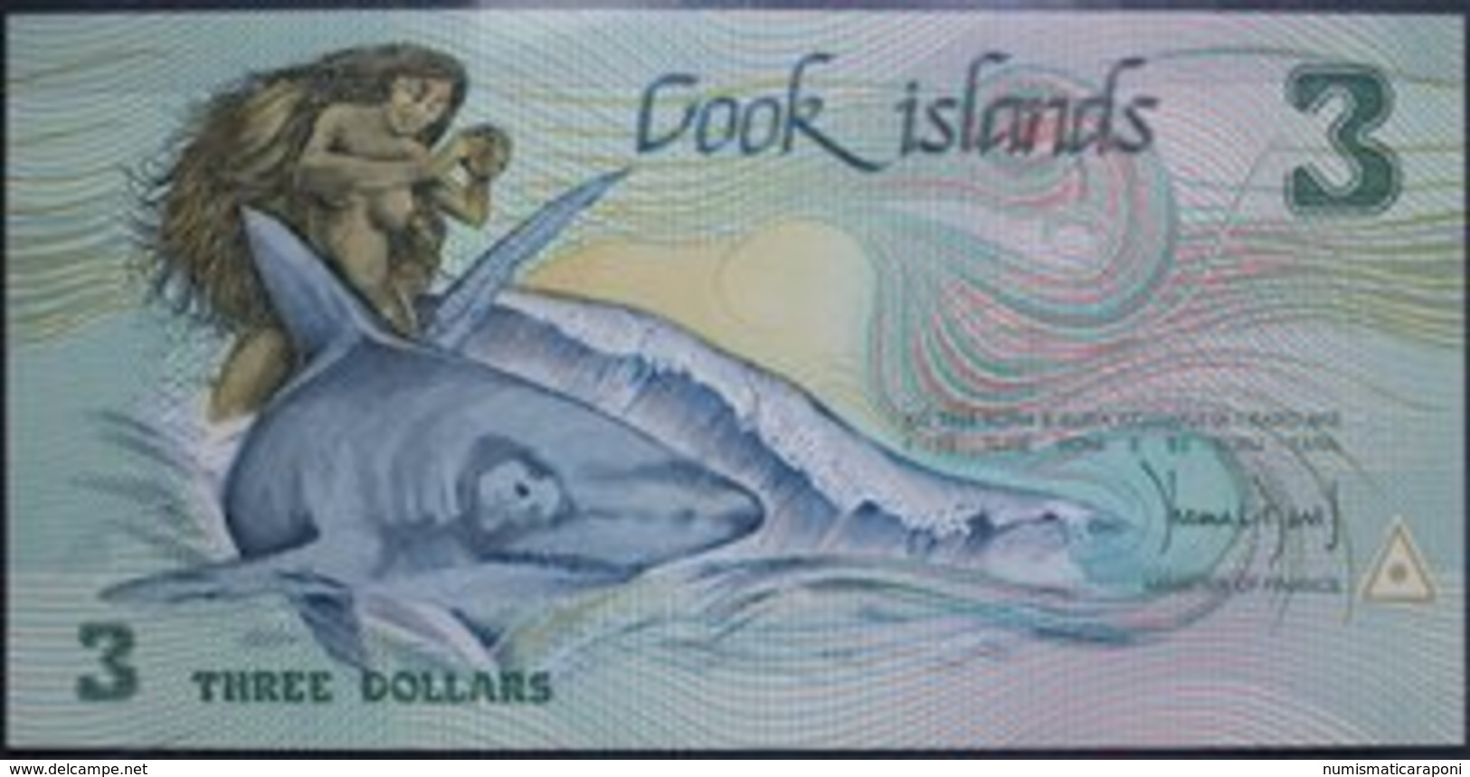 ISOLE COOK 3 DOLLARI 1992 Pick 6  Fds LOTTO 2164 - Cook Islands