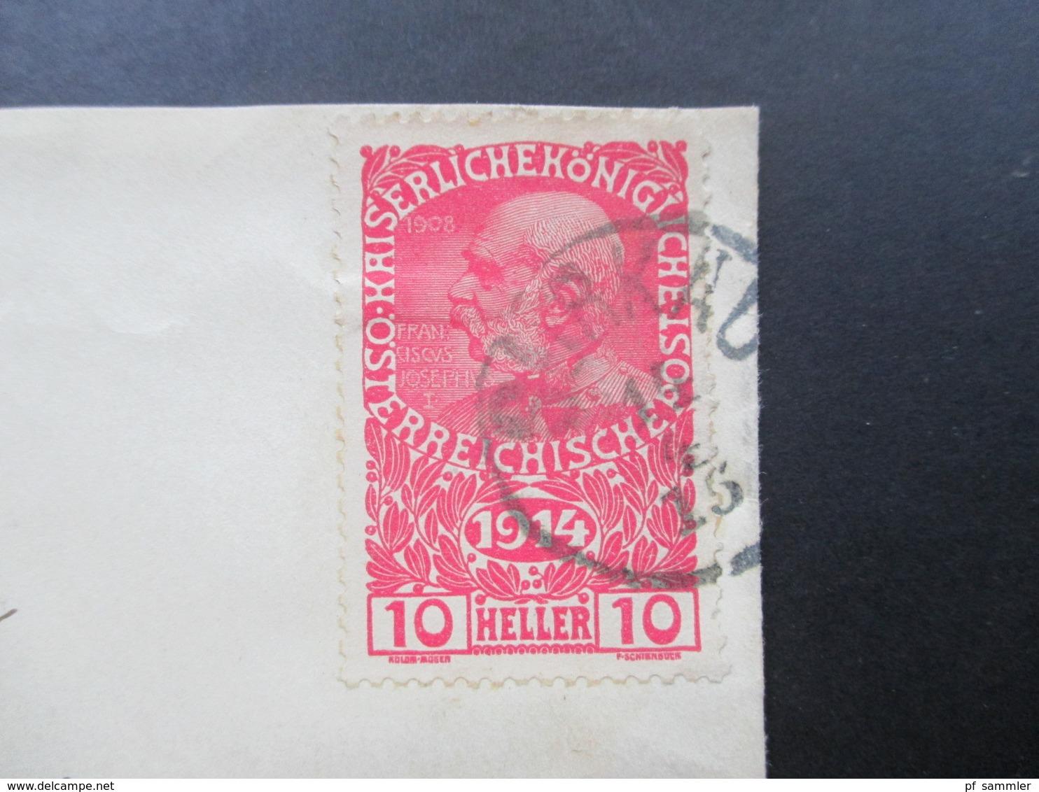 Österreich 1914 Kriegswitwen Und Waisenhilfe Nr. 179 Einzelfrankatur! Stempel Gurkau ?! - 1850-1918 Imperium