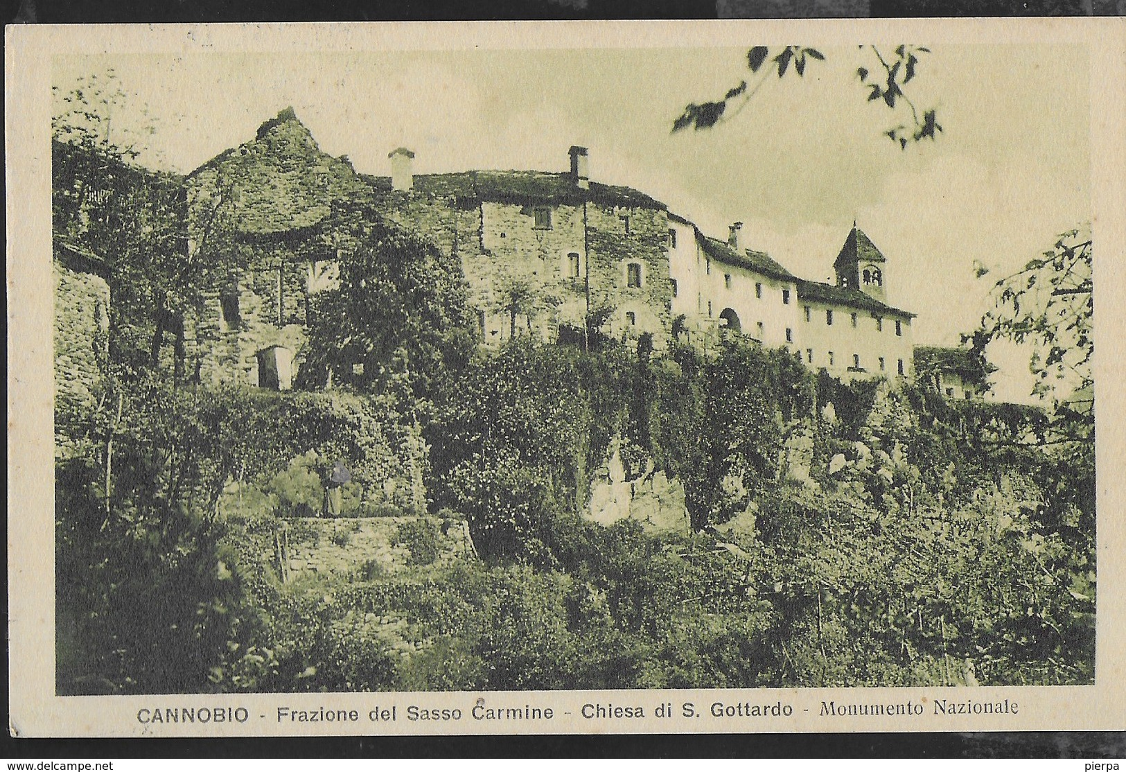 PIEMONTE - CANNOBIO - CHIESA DI S.GOTTARDO - FORMATO PICCOLO - VIAGGIATA 1957 - Italie