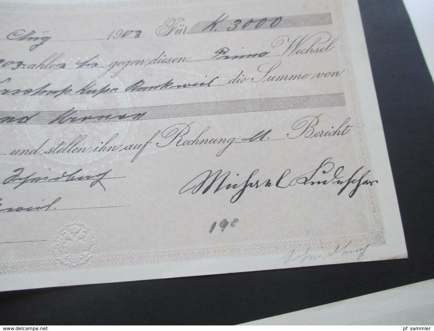 Österreich Stempelbetrag / Wechsel Scala I 1898 Verwendet 1902 / 03 Fiskalmarken / Stempelmarken. 6 Stück! - 1850-1918 Imperium