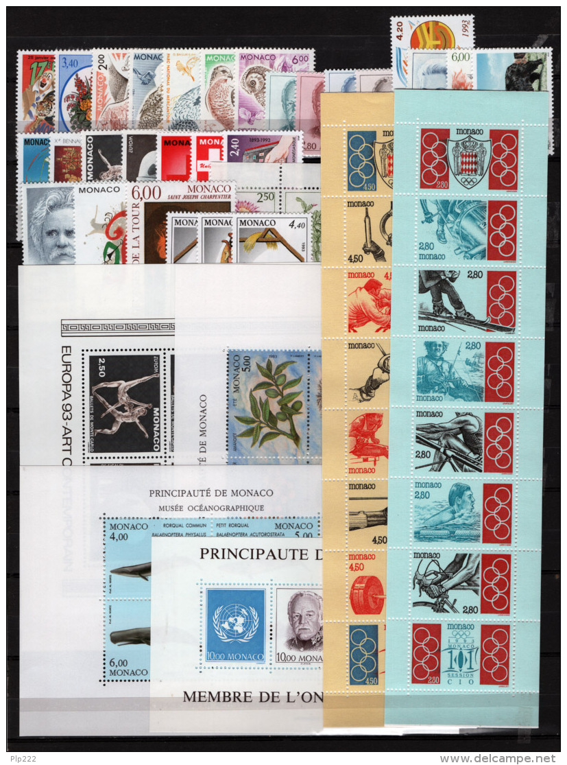 Monaco 1993 Annata Completa / Complete Year Set **/MNH VF - Annate Complete