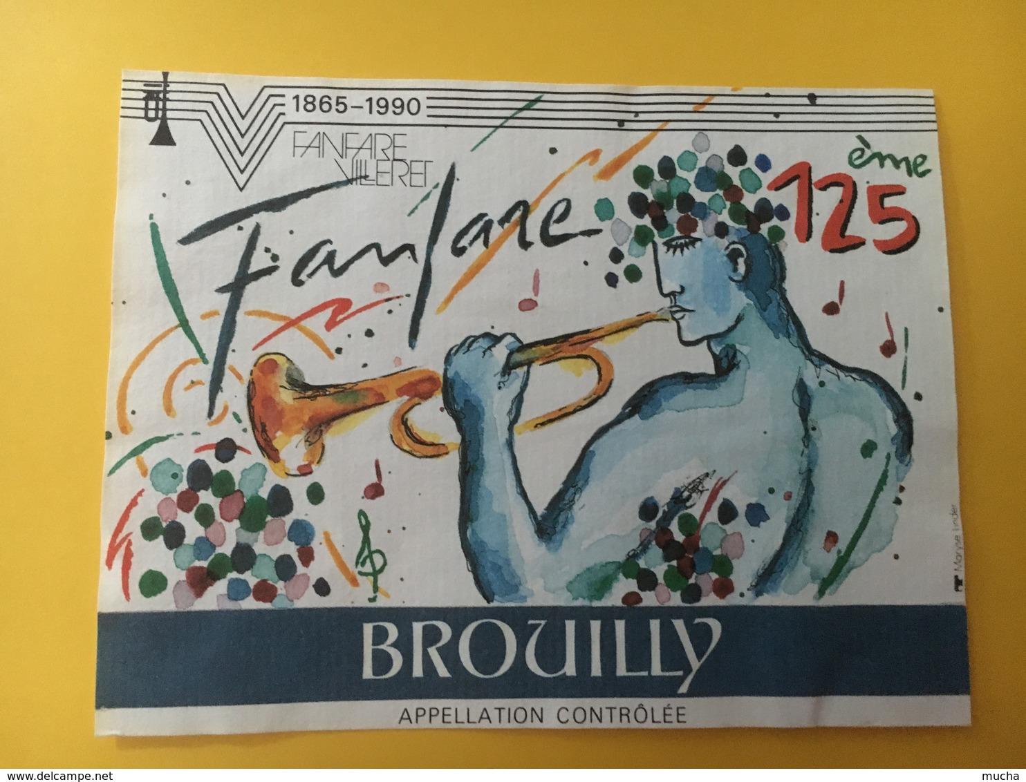 8751 - Fanfare Villeret 1865 - 1990 125e  Suisse Brouilly Aujoux 1989 - Musique