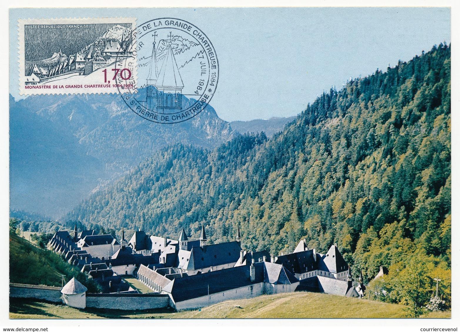 FRANCE - Carte Maximum - Saint Pierre De Chartreuse (Isère) Le Monastère...Juillet 1984 - 1980-89