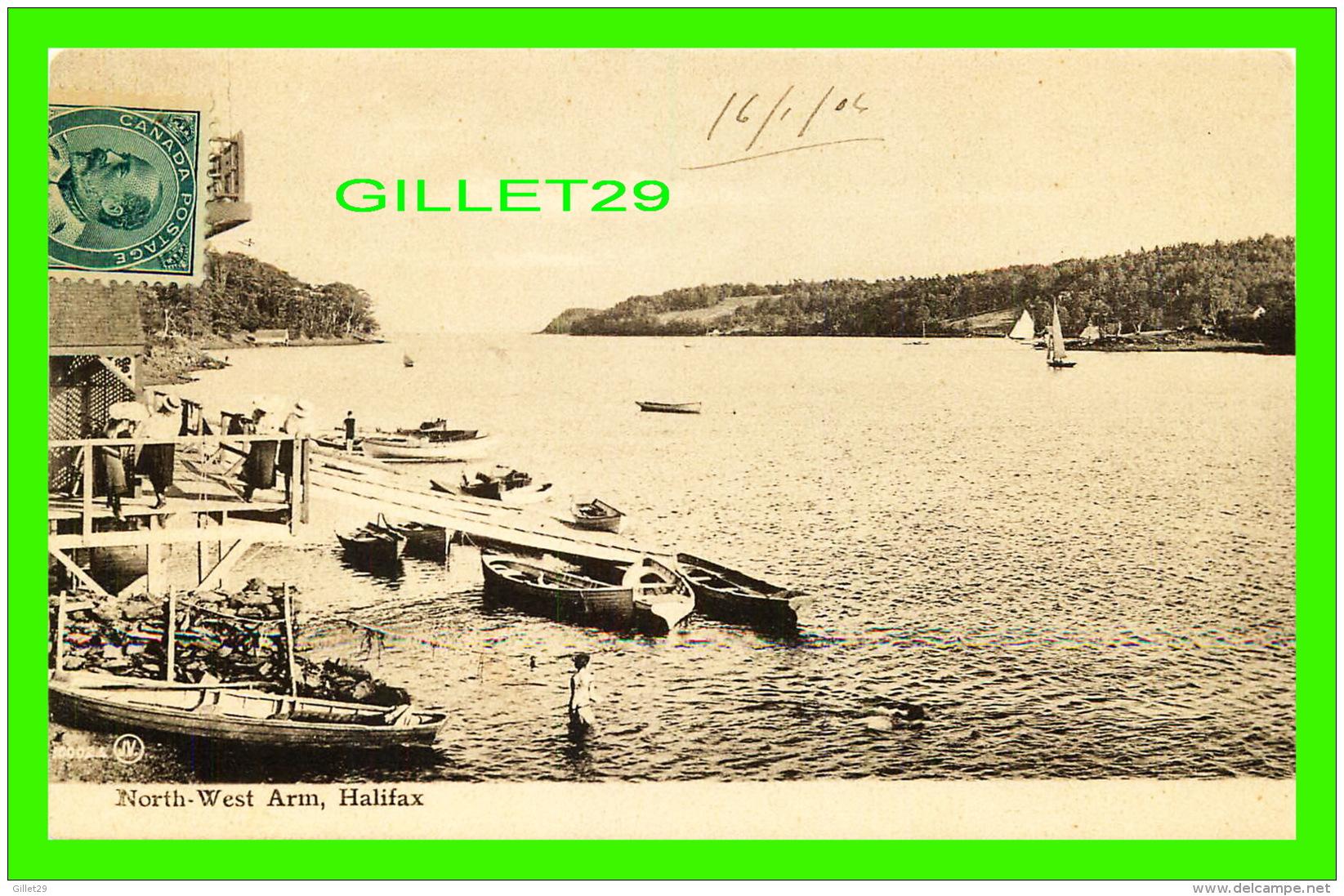 HALIFAX, NOVA SCOTIA - NORTH-WEST ARM - ANIMATED -  TRAVEL IN 1906 -  VALENTINE & SONS, LTD - - Halifax