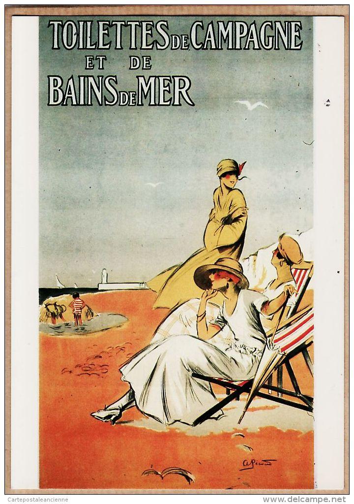 Cppub 093 TOILETTES De CAMPAGNE Et De BAINS De MER Mode 1930s Affiche REPRO NUGERON V-6 - Publicité