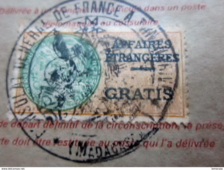 CARTE IDENTITÉ CONSULAIRE+FISCAL GRATIS MADAG MINISTÈRE AFFAIRES ÉTRANGÈRES Agent AIR FRANCE Né 1919-St Denis La Réunion - Historical Documents