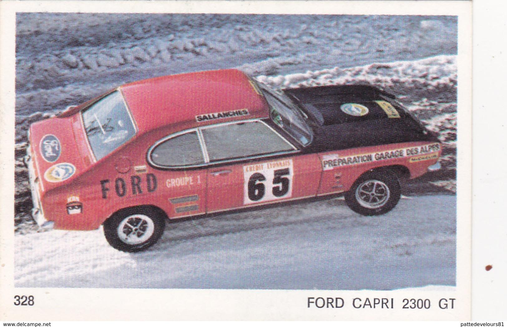 IMAGE 5 X 7,5  Sport Automobile Rallye Des Neiges Et Des Glaces FORD CAPRI 2300 GT - Vieux Papiers