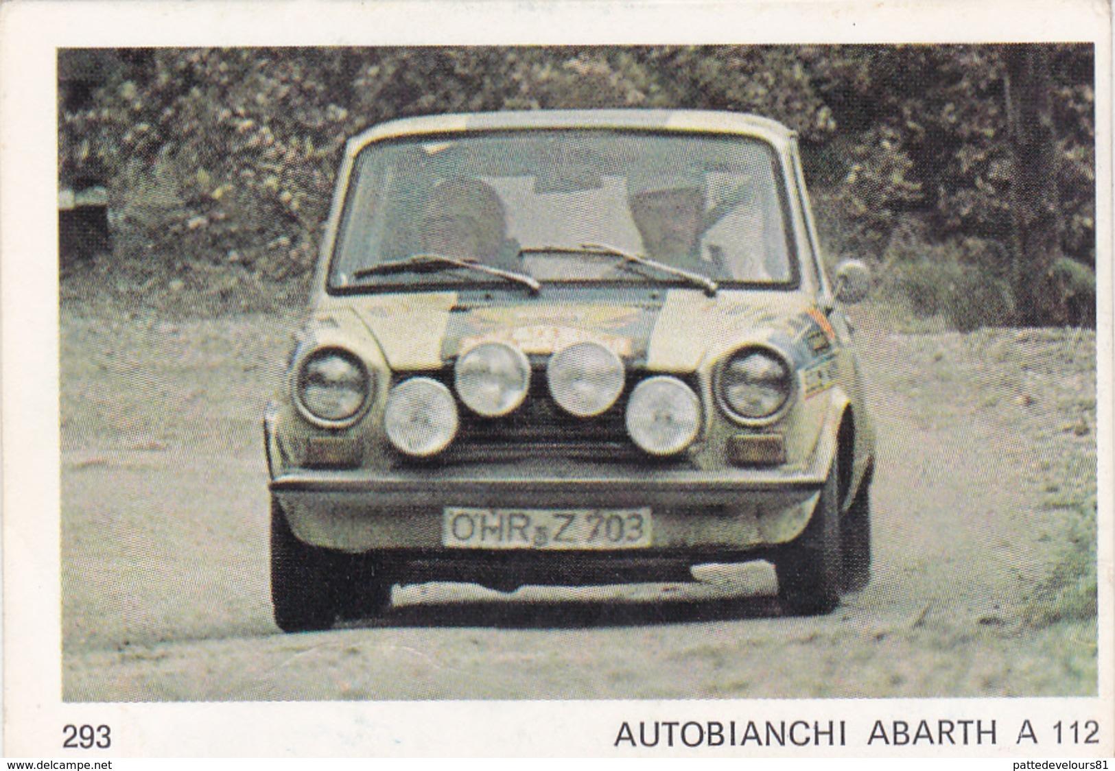 IMAGE 5 X 7,5  Sport Automobile Voiture De Rallye Sport Mécanique AUTOBIANCHI ABARTH A 112 - Vieux Papiers