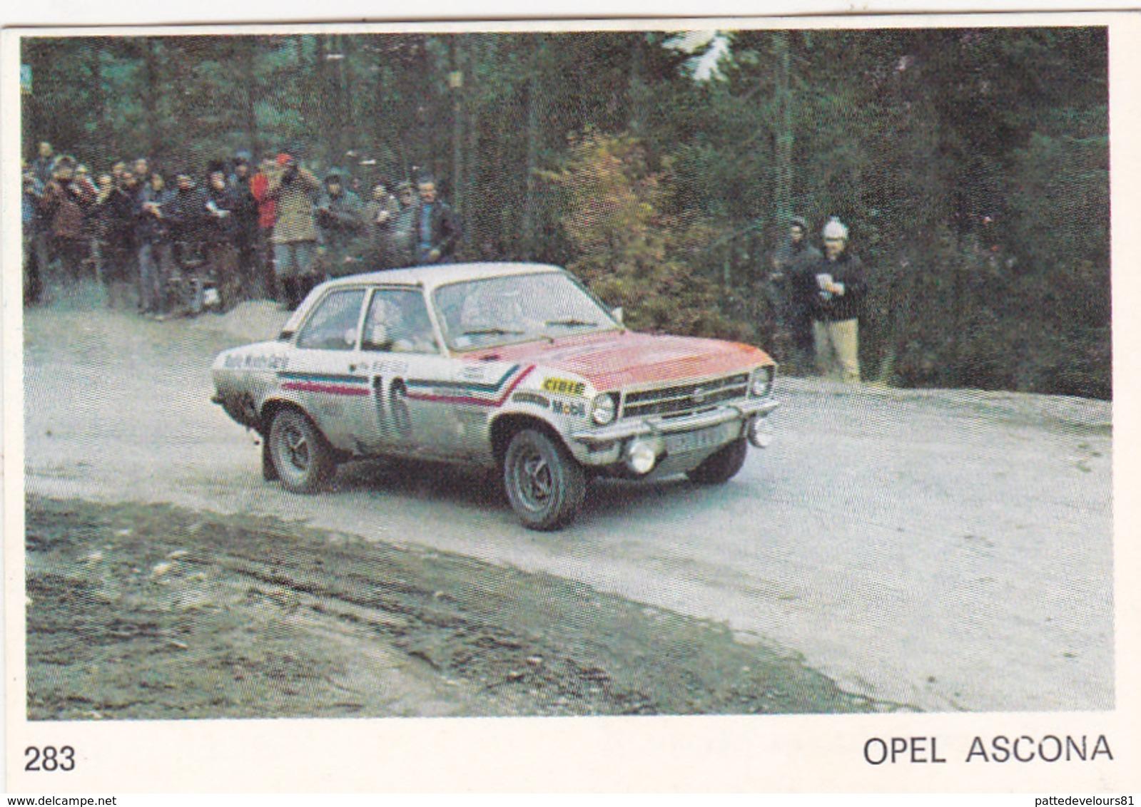 IMAGE 5 X 7,5  Sport Automobile Voiture De Rallye Sport Mécanique OPEL ASCONA - Vieux Papiers