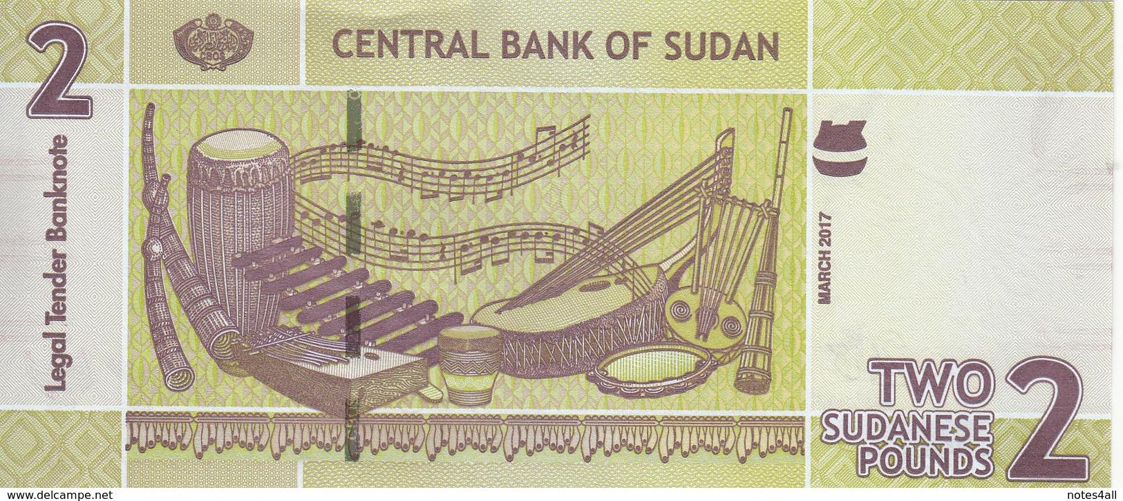 SUDAN 2 POUNDS 2017 P-71 New UNC */* - Sudan