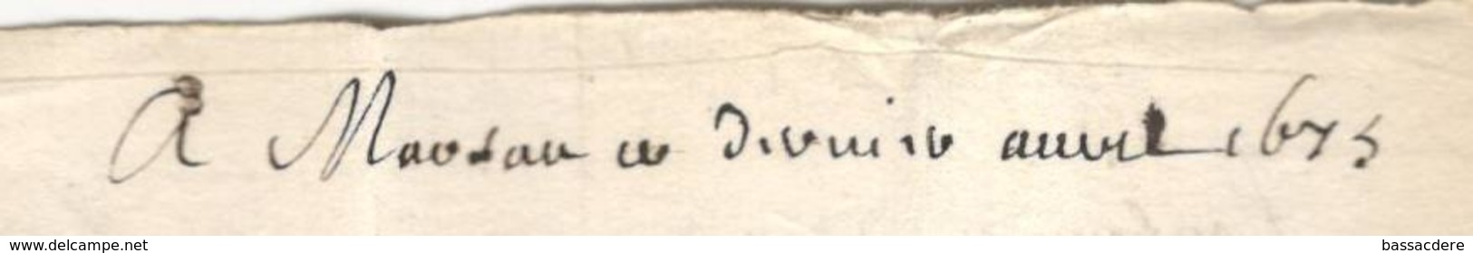 6399 - 1673 Pour St Donat - Marcophilie (Lettres)