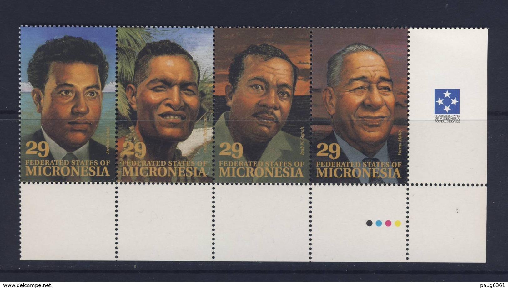 MICRONESIE  1993 DIRIGEANTS LOCAUX YVERT N°234/37 NEUF MNH** - Micronésie