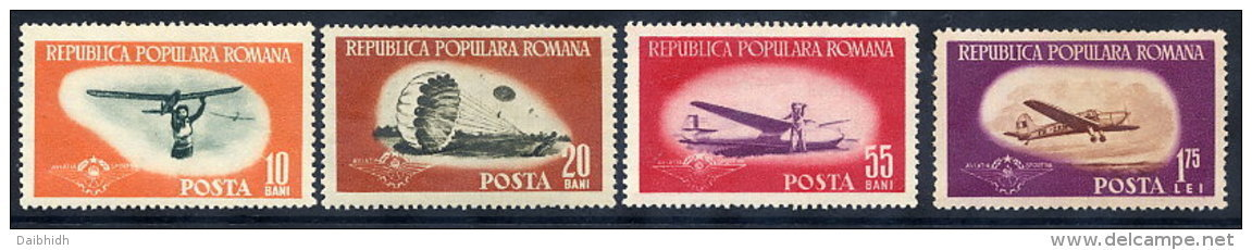 ROMANIA 1953 Sport  Aviation Set Of 4 MNH / **.  Michel 1450-53 - Unused Stamps