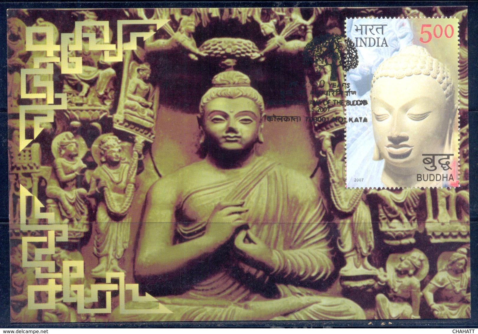 RELIGIONS-BUDDHISM- 2550 YEARS OF MAHAPARINIRVANA -MAXIMUM CARD #1- INDIA-2007- MC-64 - Buddhism