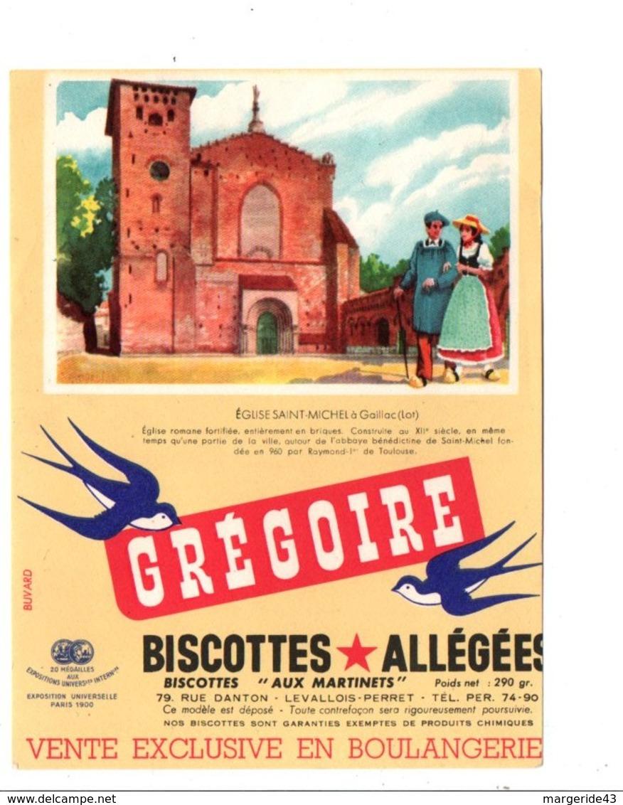 BUVARD BISCOTTES GREGOIRE - EGLISE SAINT MICHEL à GAILLAC LOT - Blotters