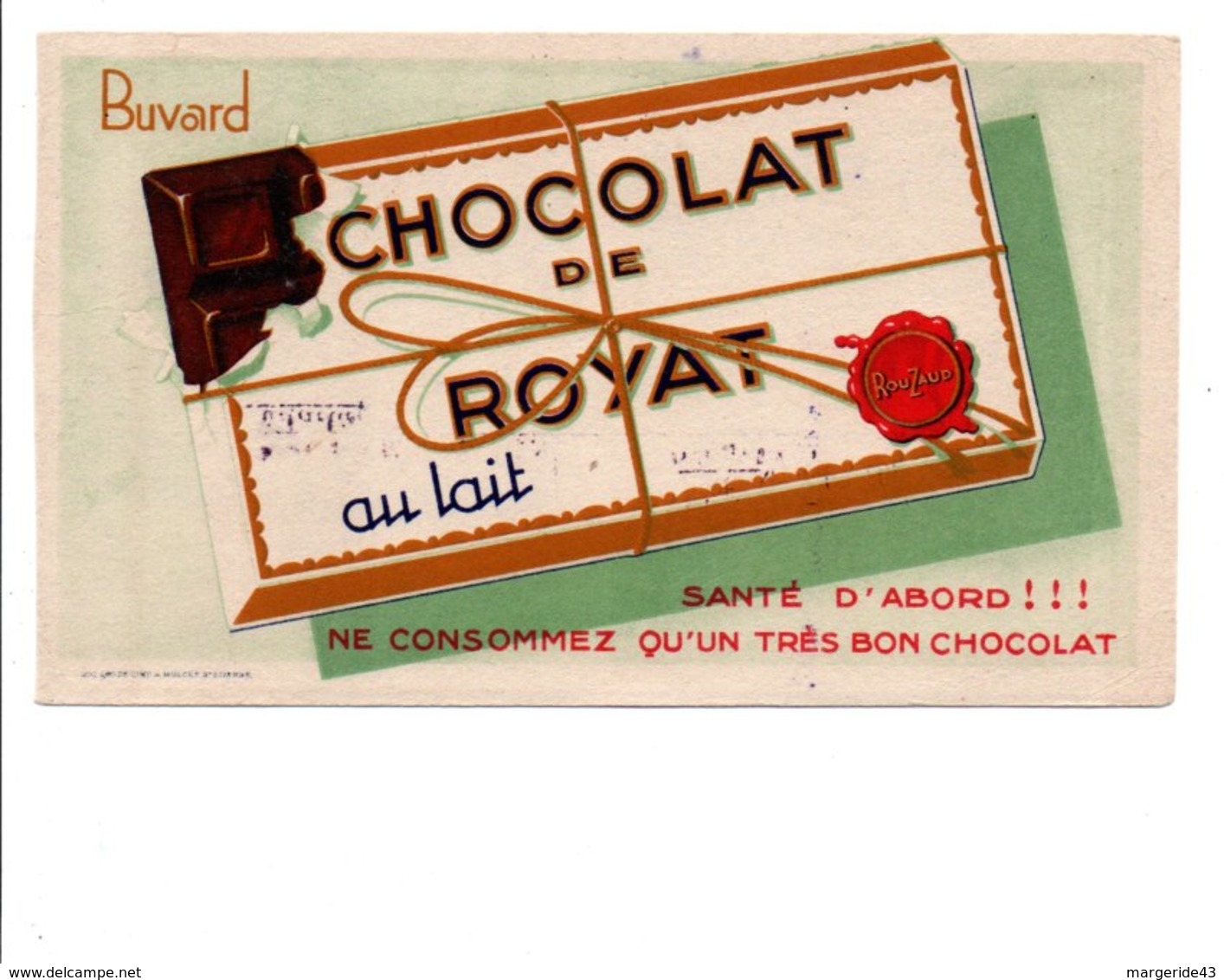 BUVARD CHOCOLAT DE ROYAT - Blotters