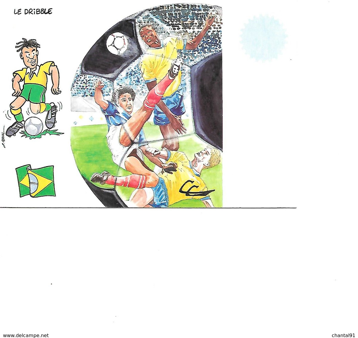 CARTE POSTALE SPORT MONDIAL 1998 LE DRIBBLE - Fussball