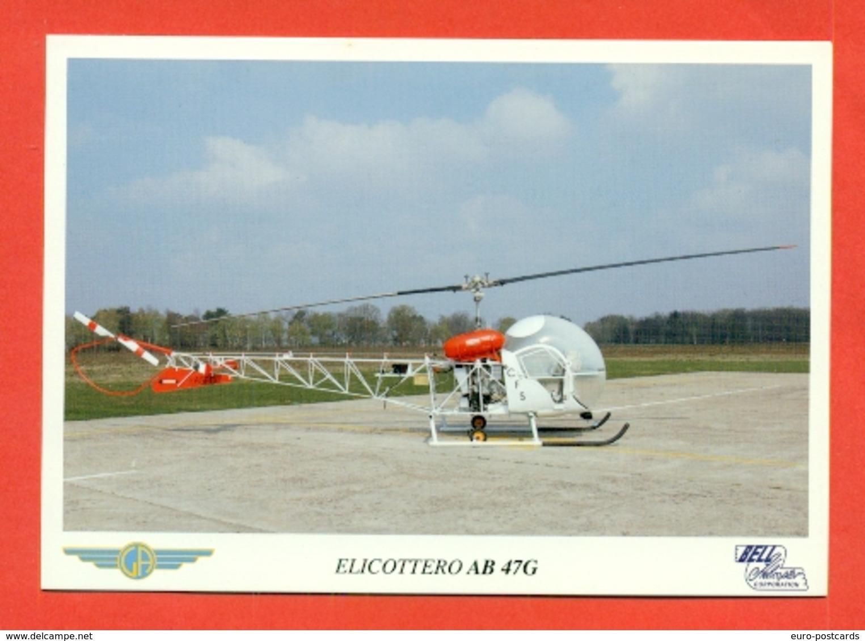 ELICOTTERI-AB 47G -SAMARATE-MUSEO AGUSTA - MARCOFILIA - Elicotteri