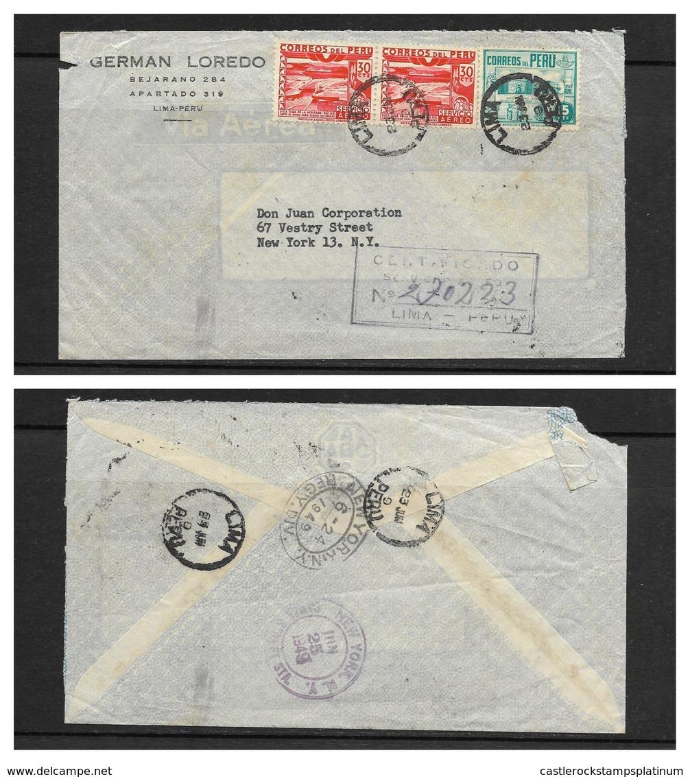 O) 1949 PERU, DAM-PRESA-ICA RIVER.-BOCA TOMA ACHIRAMA SCT C53-AP31. ARCHEOLOGY-ARCHAELOGICAL MUSEUM LIMA SC. 378-A156. R - Peru