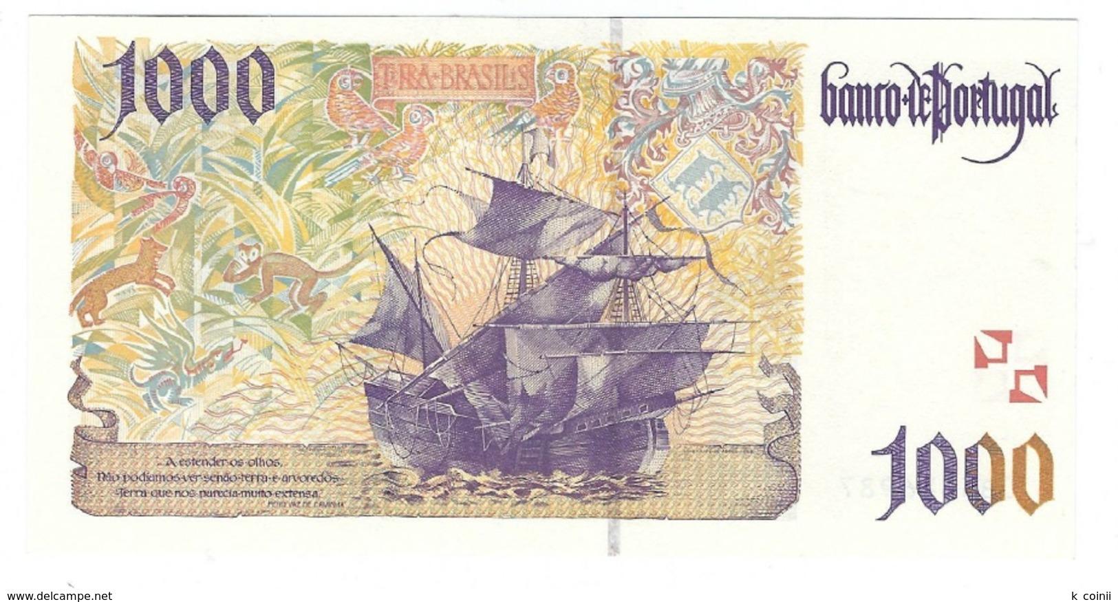 Portugal - 1000 Escudos (1000$00) 1998 12 March - UNC - Portugal