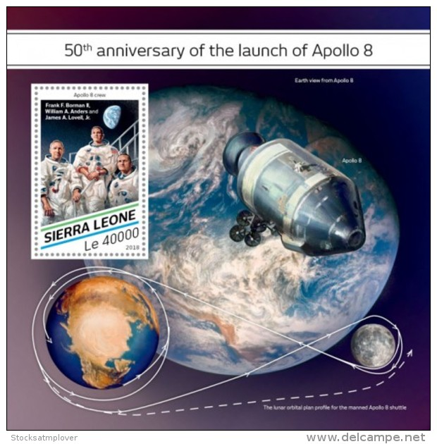 SIERRA LEONE 2018  Apollo 8 Space  S201807 - Sierra Leona (1961-...)