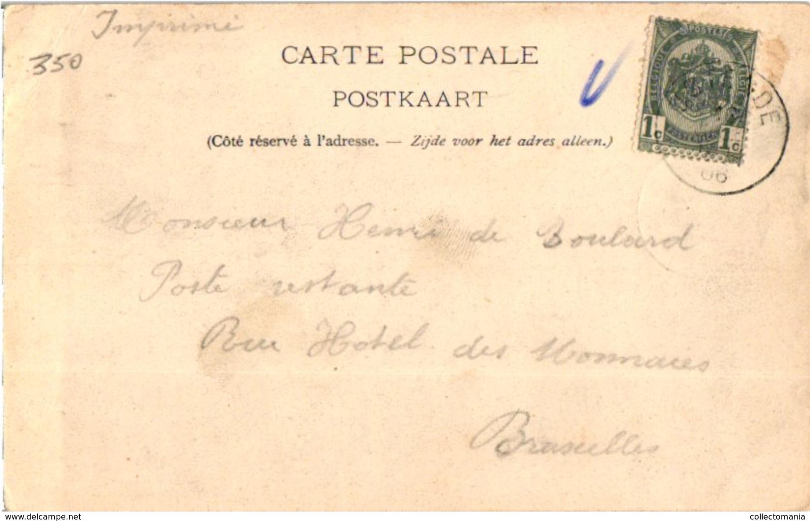 1 Cpa C1906 Hondenkar,  Attelage De Chiens, Café Rommelaere MELK OOSTENDE Plaats Van De Zweep, SUGG 7 Nr199 - Scherpenheuvel-Zichem