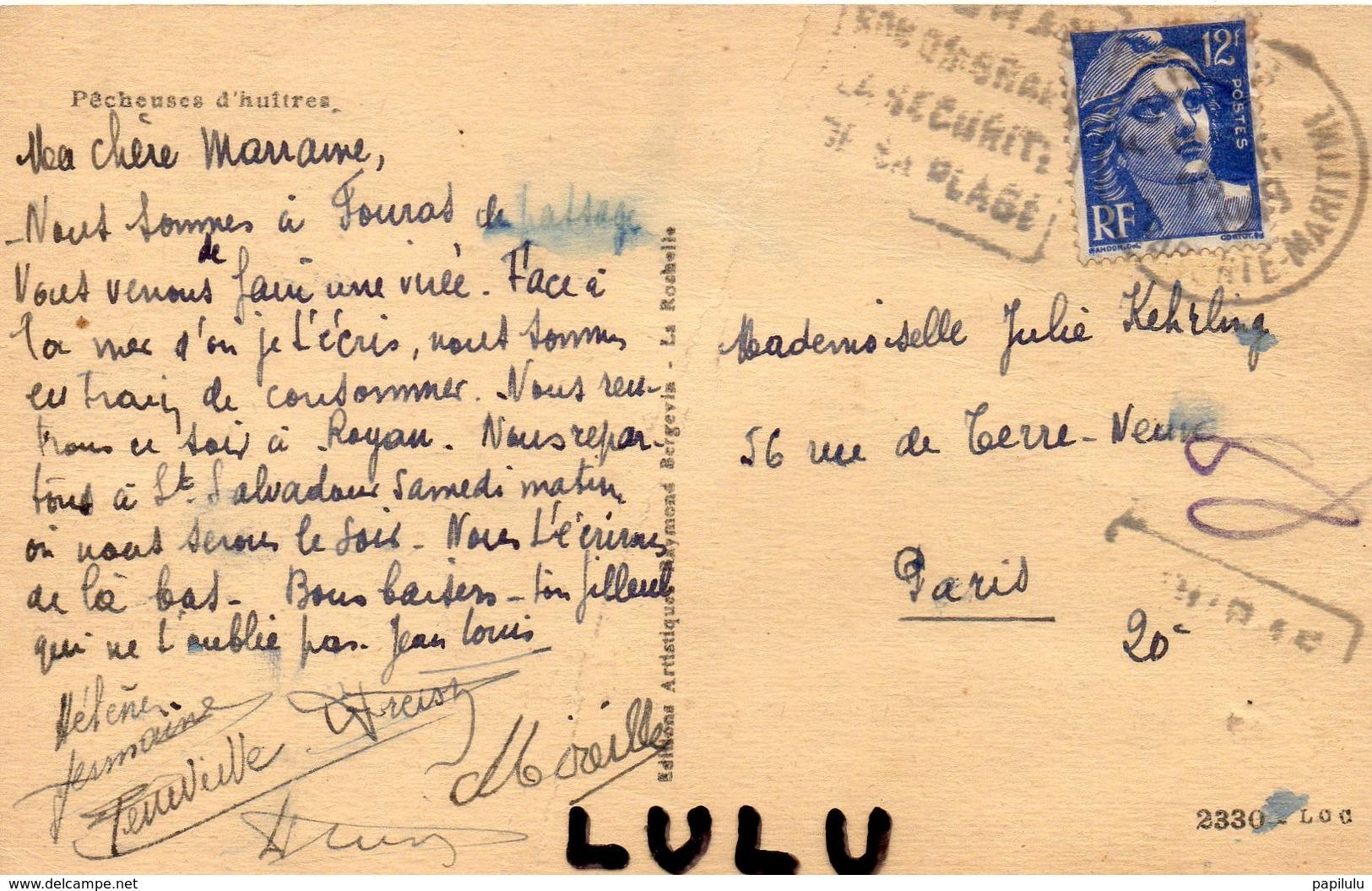 DEPT 17 : édit. R Bergevin : Pècheuse D Huitres - France