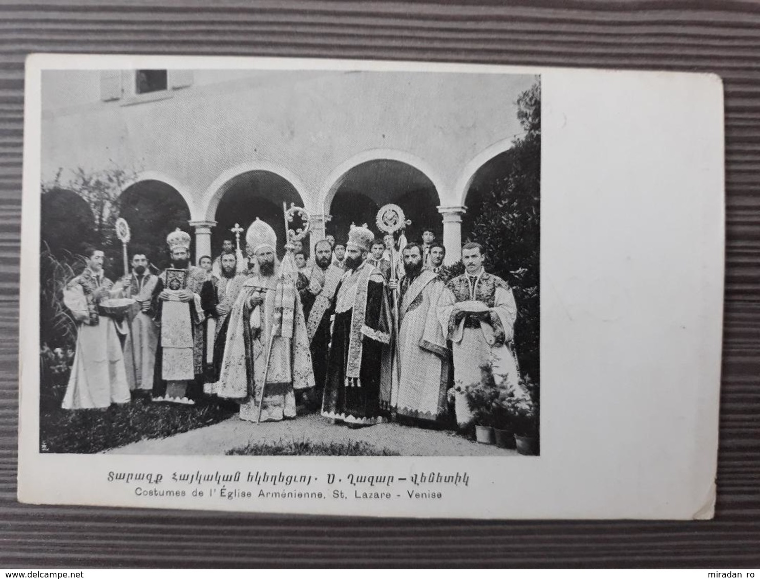 ITALY ARMENIA RARE POSTCARD ANSICHTSKARTEN COSTUMES DE L EGLISE ARMENIENNE - Venezia (Venice)