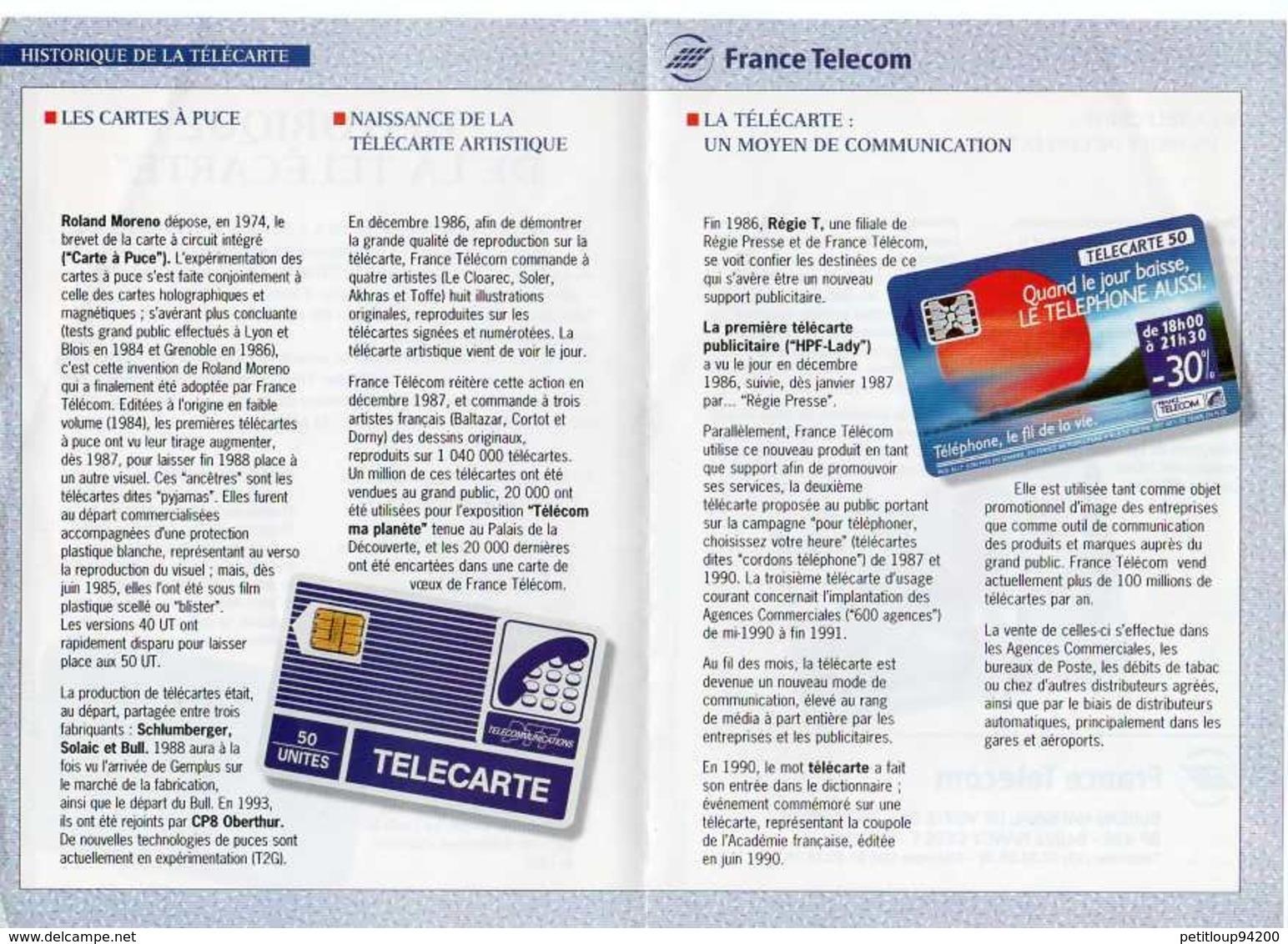 * BULLETIN FRANCE TELECOM  Historique De La Télécarte  * LA COTE EN POCHE Actualités Télécartes ANNEES 1994 & 2002 - Télécartes