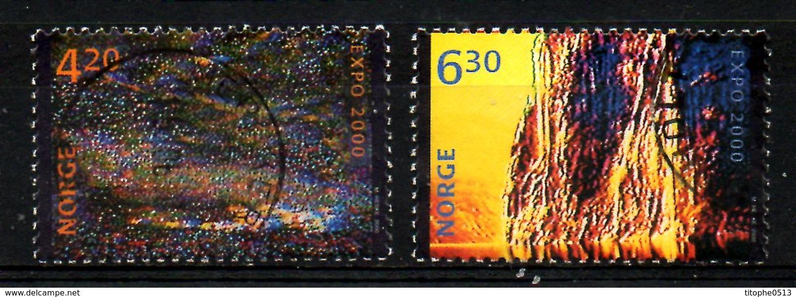 NORVEGE. N°1302-3 Oblitérés De 2000. Expo 2000. - 2000 – Hanover (Germany)