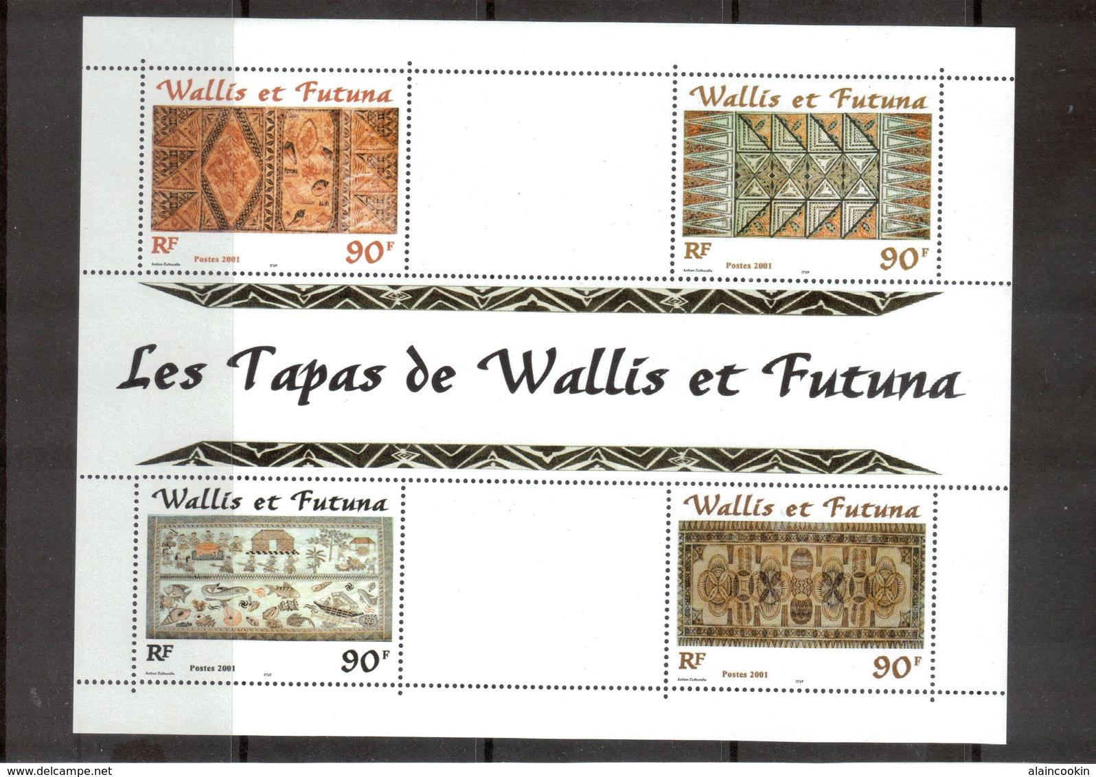 M24 - Wallis Et Futuna - BF 10** De 2001 - Artisanat Local : LES TAPAS - - Wallis-Et-Futuna