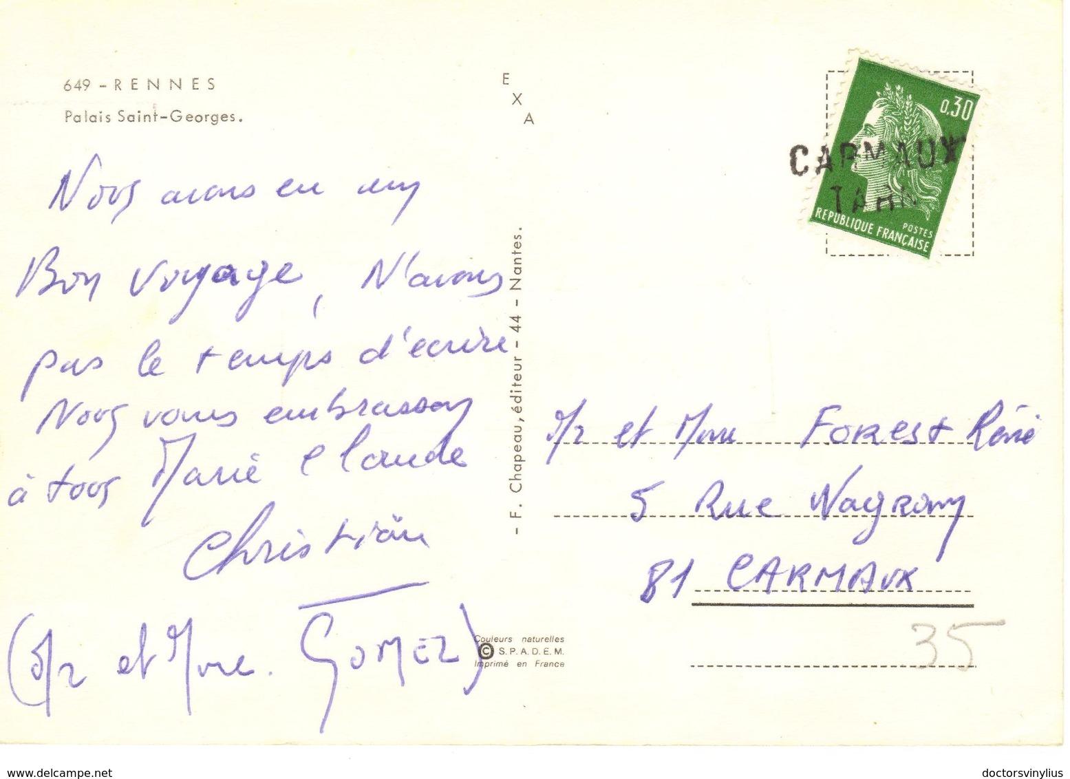 RENNES - PALAIS SAINT GEORGES - Rennes