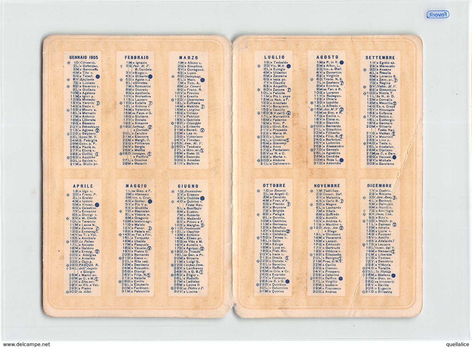 """0272 """"CALENDARIETTO-VITA MEDIOEVALE-ALMANACCO PROFUMATO-VALSECCHI & MOROSETTI-MILANO"""" ANIMATO. CALEND. ORIG - Calendriers"""