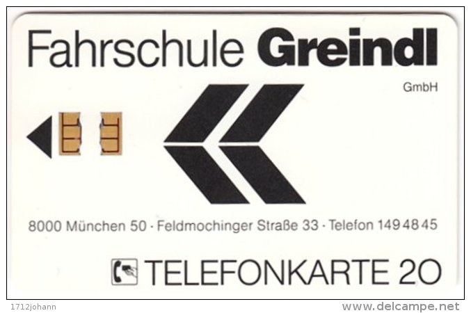 GERMANY - 018 Chip Telekom - Fahrschule Greindl - Used - Deutschland