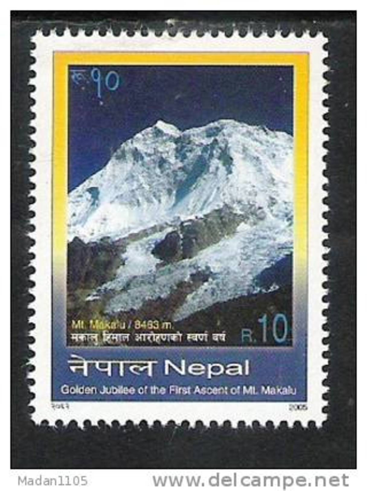 NEPAL 2005  Golden Jubilee 1st Ascent On Mount Makalu, Yvert 775, 1value Complete, MNH(**), - Nepal