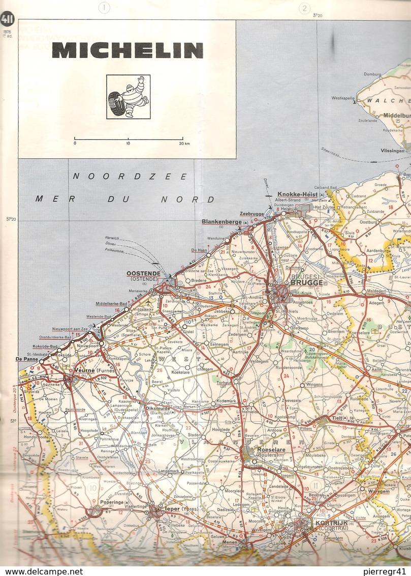 CARTE-ROUTIERE-MICHELIN-1955-N°987-EUROPE NORD - 2/3 PLIS Un Peu Coupés-BE - Cartes Routières