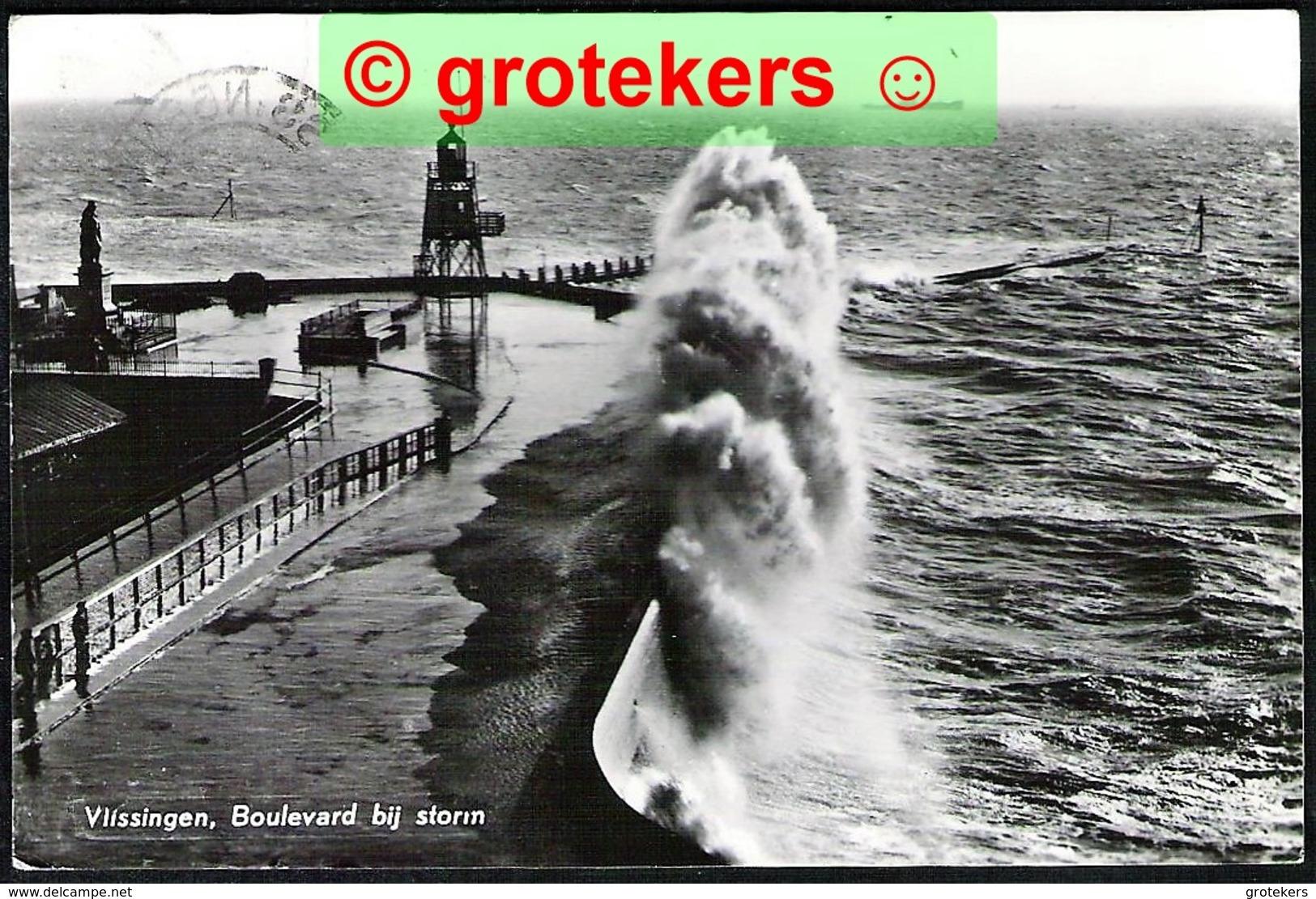 VLISSINGEN Boulevard Bij Storm 1966 - Vlissingen