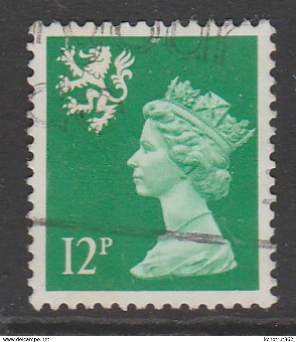 Scotland 1986 Queen Elizabeth II - New Color 12 P Emerald Green SW 43 O Used - Regional Issues