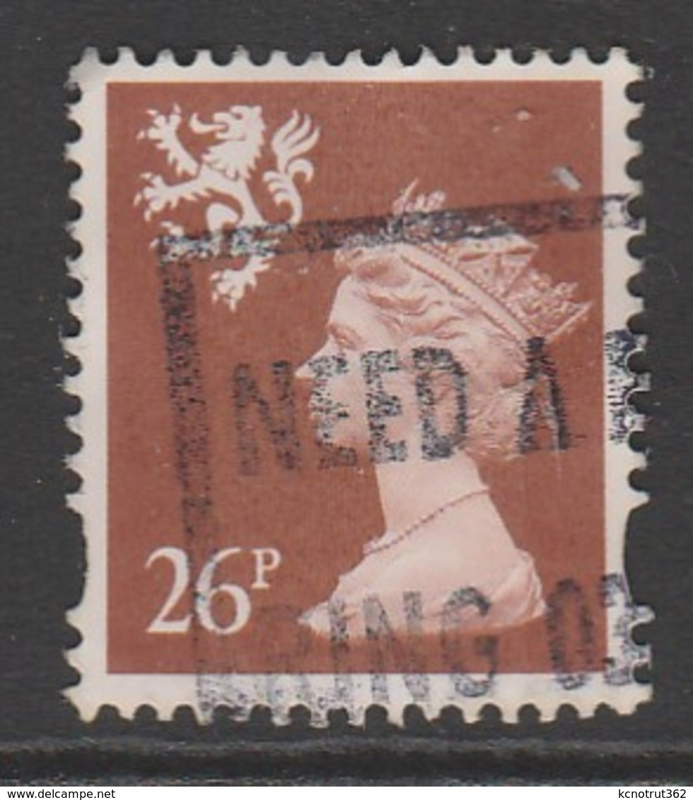 Scotland 1996 Queen Elizabeth II - New Values & Colors 26 P Yellowish Brown SW 66 O Used - Regional Issues