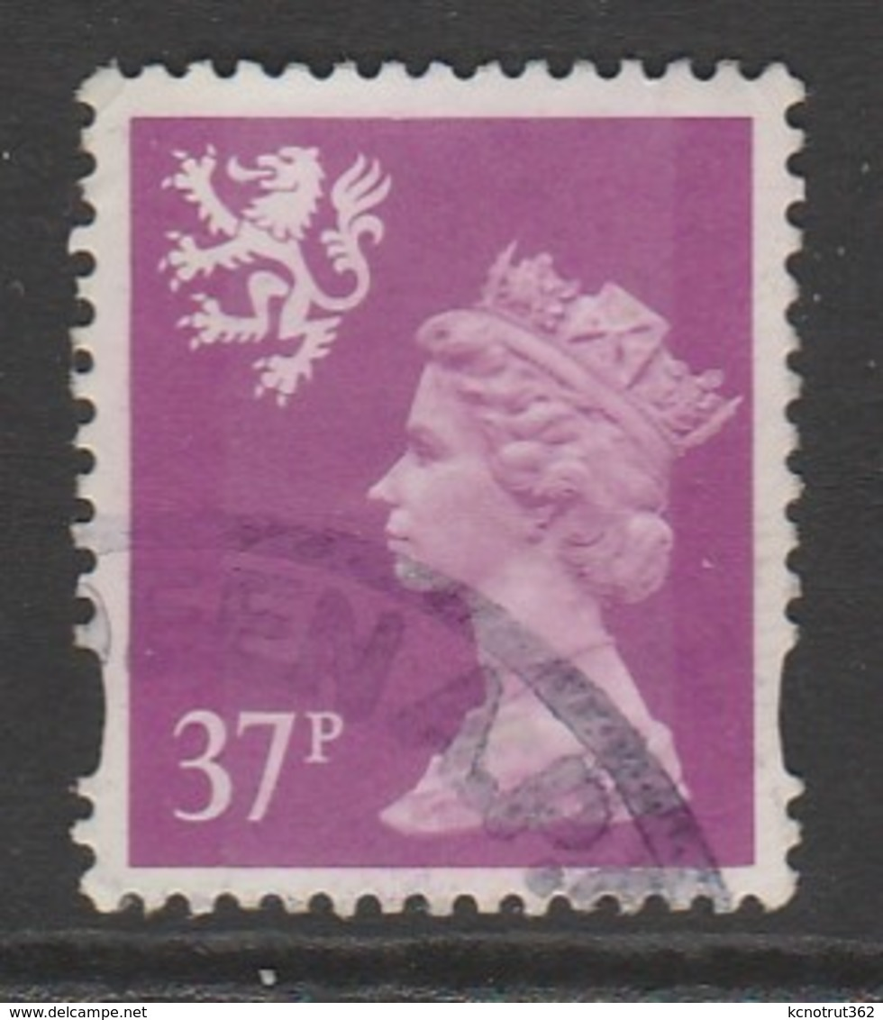 Scotland 1996 Queen Elizabeth II - New Values & Colors 37 P Purple SW 67 O Used - Regional Issues