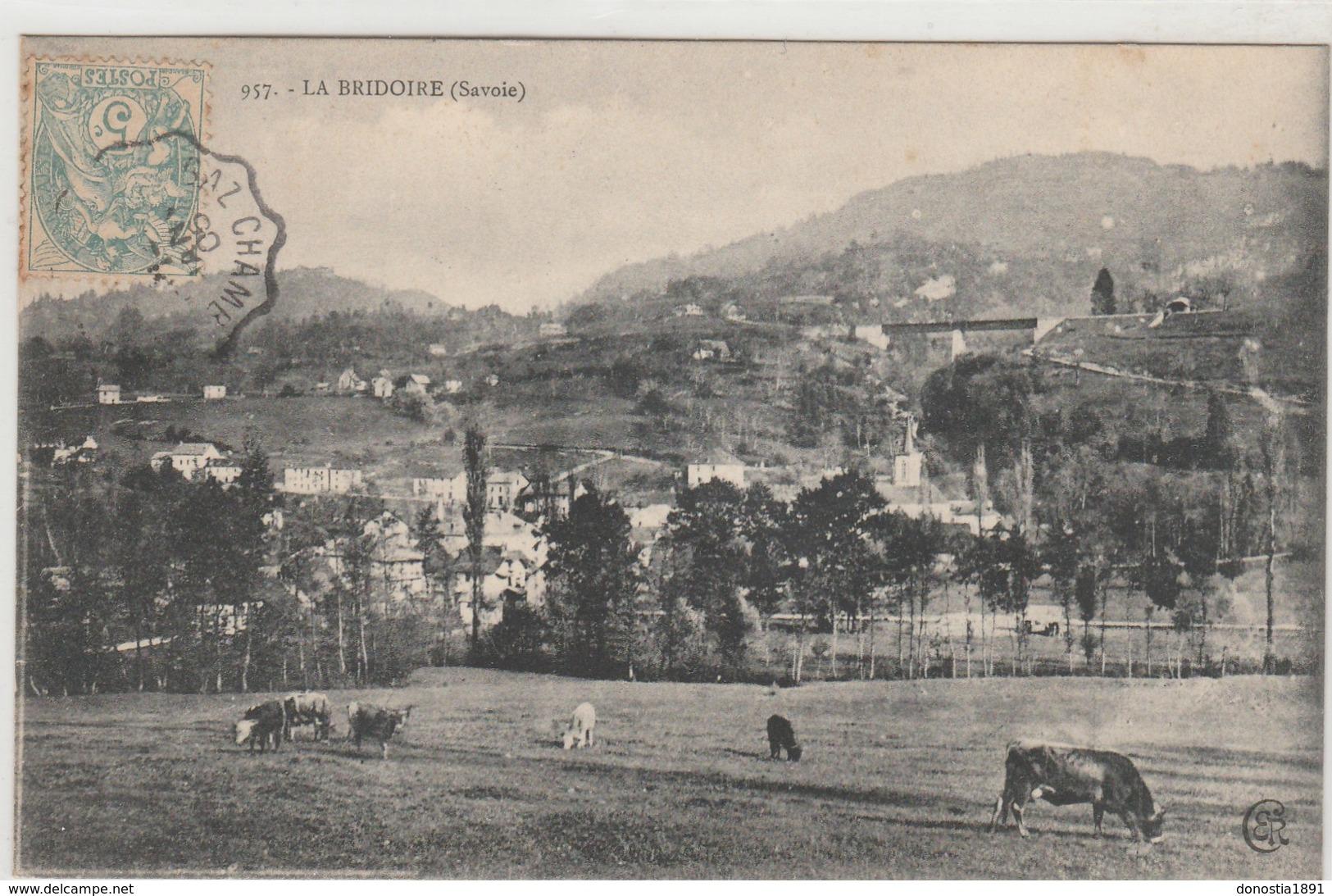 LA BRIDOIRE- Vaches -  Timbrée 1906 - Altri Comuni