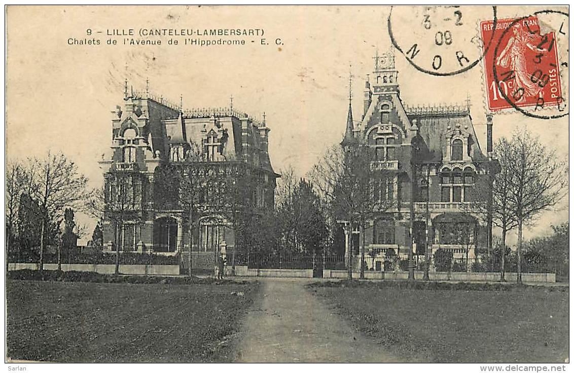 59 , LILLE CANTELEU LAMBERSART , Chalet De L'avenue De L'hippodrome , * 257 40 - Lille